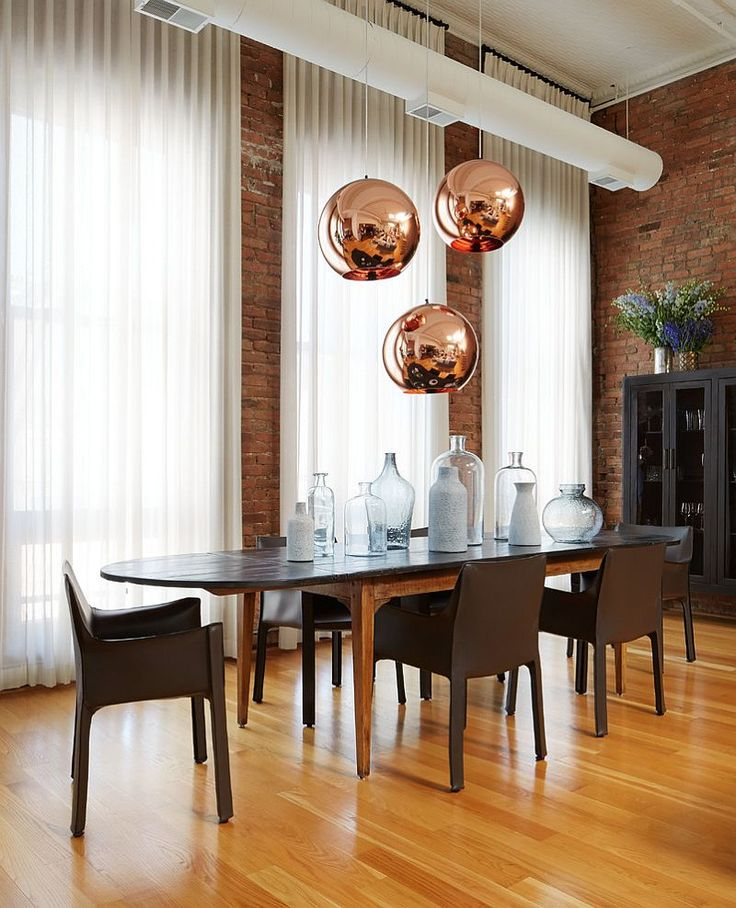 Try this designing with multiple pendant lights contemporary dining