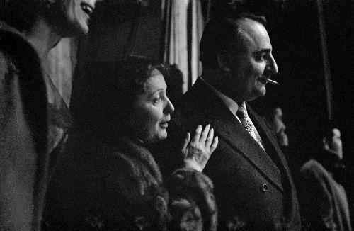 Edith Piaf and Bruno Coquatrix, Paris, Frank Horvat, 1958