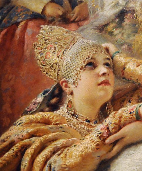 Konstantin Makovsky - The Russian Bride's Attire (1889)