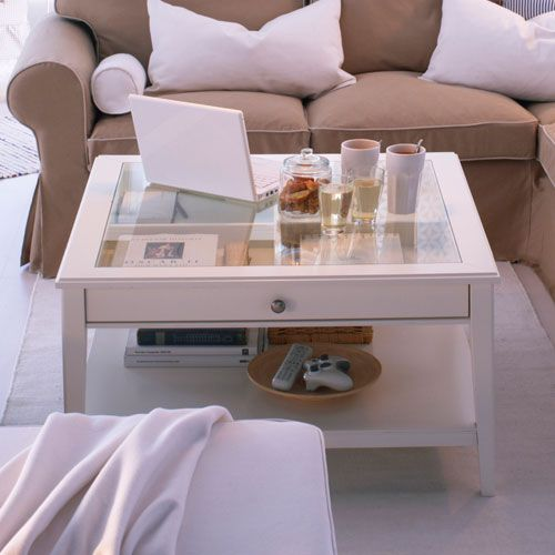 LIATORP table basse blanche IKEA