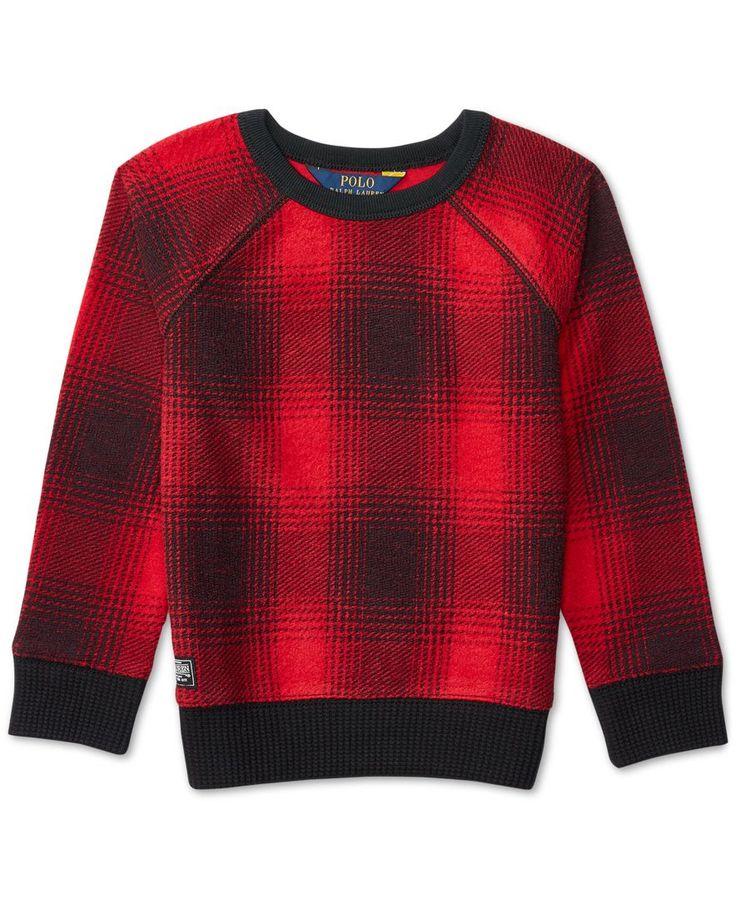 Ralph Lauren Plaid Fleece Shirt, Toddler Girls (2T-5T) & Little Girls (2-6X)