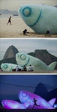 sculptures made from discarded plastic bottles! 1 million women