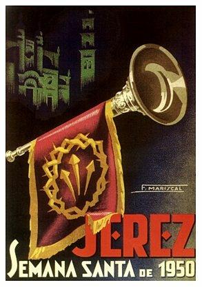Semana Santa Jerez - cartel 1950