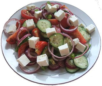 Greek salad. A great food combining meal for the Hay Diet