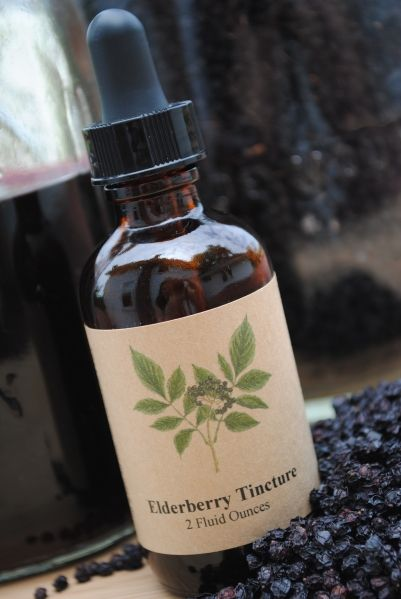 Elderberry Tincture to fight the flu season. Proven to cut the severity of influenza A/B & significantly if taken at the onset of symtoms.