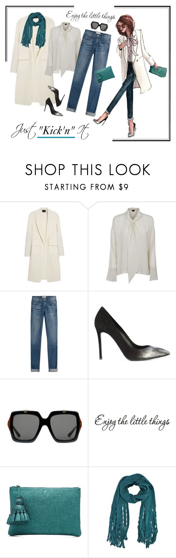 """""""Just kick' it"""" by outfitsloveyou ❤ liked on Polyvore featuring Alexander Wang, Theory, Current/Elliott, Thomas Wylde, Gucci and Anya Hindmarch"""
