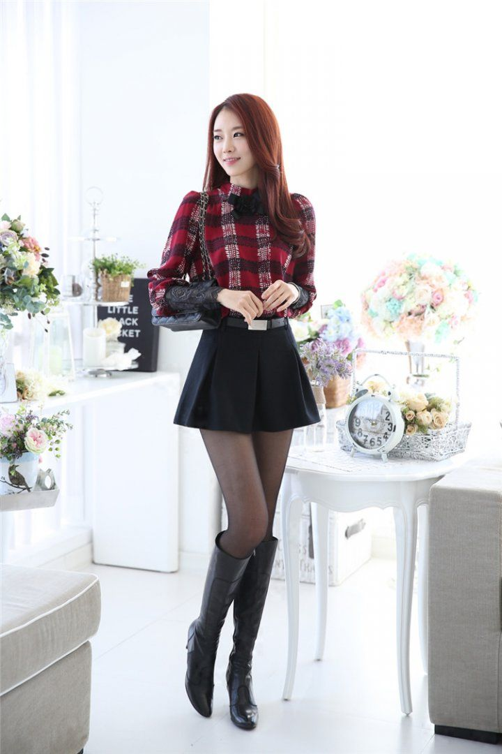 CT08432 Korean style chiffon shirt puff sleeve bottoming shirt