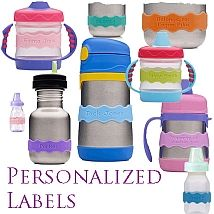 Inchbug Orbit Labels  Sippy Cup Labels  Sippy Cup Name Bands