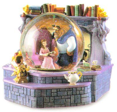 Beauty and the Beast Snowglobe. This snow globe IS a real beauty. :)