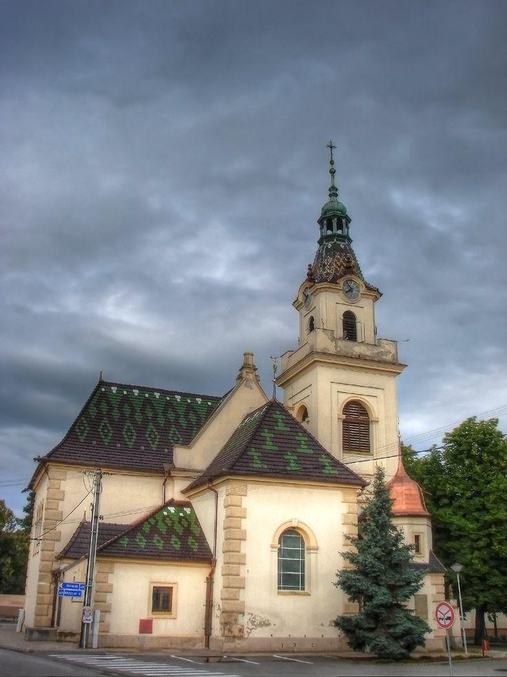 Kostel Povýšení svatého Kříže (mesto Lanžhot, kostel byl v letech 1892–1893 kompletně přestavěn)
