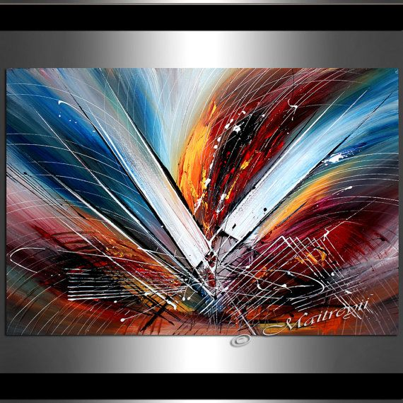 Peintures d'art peinture abstraite grand oeuvre par largeartwork