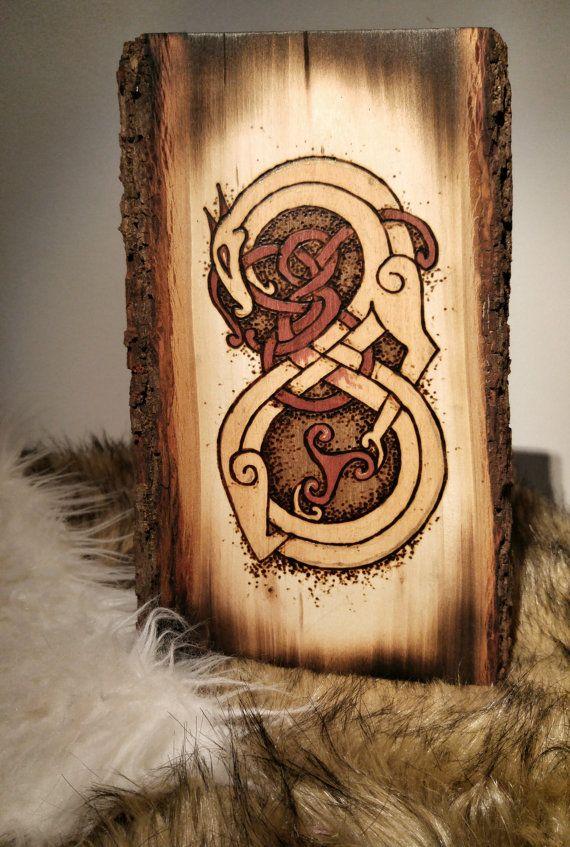 Jormungand  World Serpent Pyrography by Midgart on Etsy