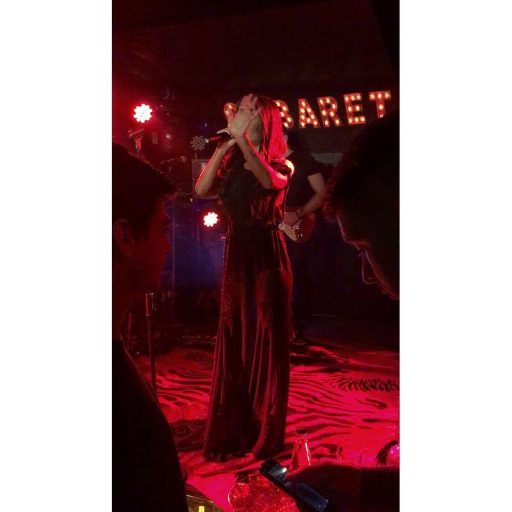 Singer Thomai Apergi in Vassilis Thom Haute Couture live at Cabaret