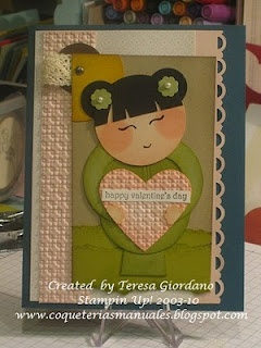 Stampin' Up!  Punch Art  Teresa Giordano  China Doll Tutorial