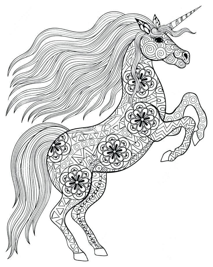 Mythical Creature Coloring Pages Adult Coloring Pages Unicorn