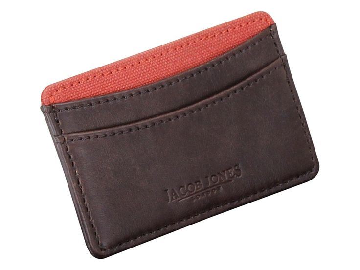 Jacob Jones Leather Card Holder for to keep your cards and IDs safely all at one place which gives you an easy access to them. Shop this card holder at We Get Personal. #personalisedcardholder #engravedcardholder #JacobJonesLeatherCardHolder #cardholder #men #menfashion #fashionaccessories