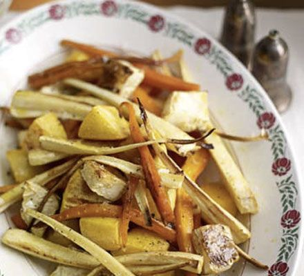 Root veg is a must with Sunday lunch and Christmas dinner, and this easy recipe is low-fat, superhealthy and high in fibre to boot
