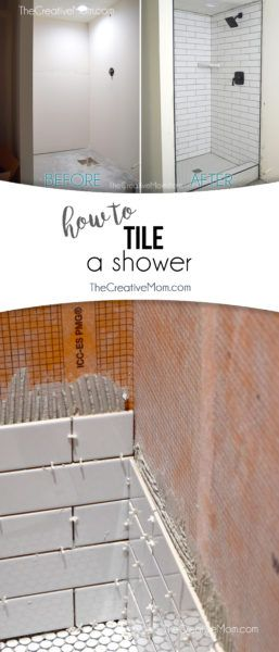 How To Tile A Shower Full Tutorial With Pictures For How To Install