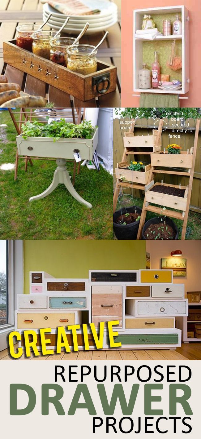Upcycled and Recycled Drawer Projects- great ideas, projects and tutorials