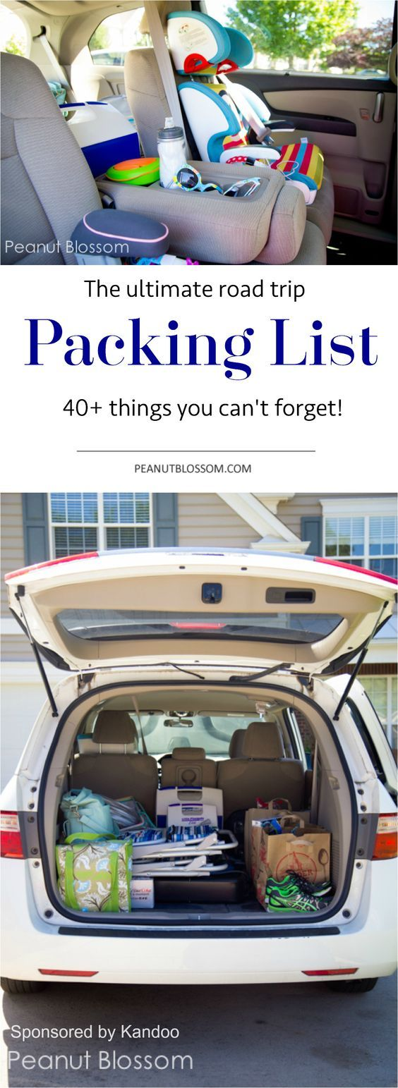 The ultimate road trip packing list! 40+ things you don't want to forget for your next adventure with the family.: