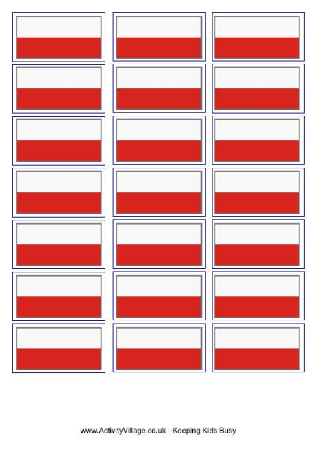 Poland flag printable
