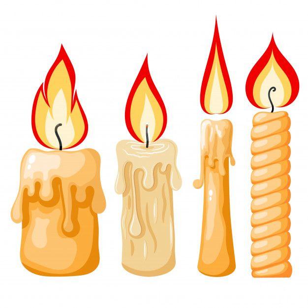 Cartoon Of A Candle Set Of Yellow Candl Premium Vector Freepik Vector Party Light Cartoon Fire Cartoon Candle Candle Flame Drawing Candle Drawing