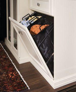 Walk-in Closet Tilt-out Hamper - spaces - new york - transFORM | The Art of Custom Storage