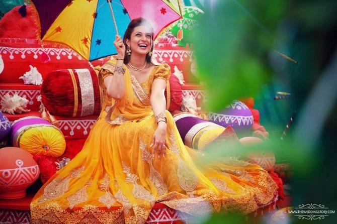 Divyanka Looks Like A Fairy From Heaven On Her Haldi Ceremony - BollywoodShaadis.com