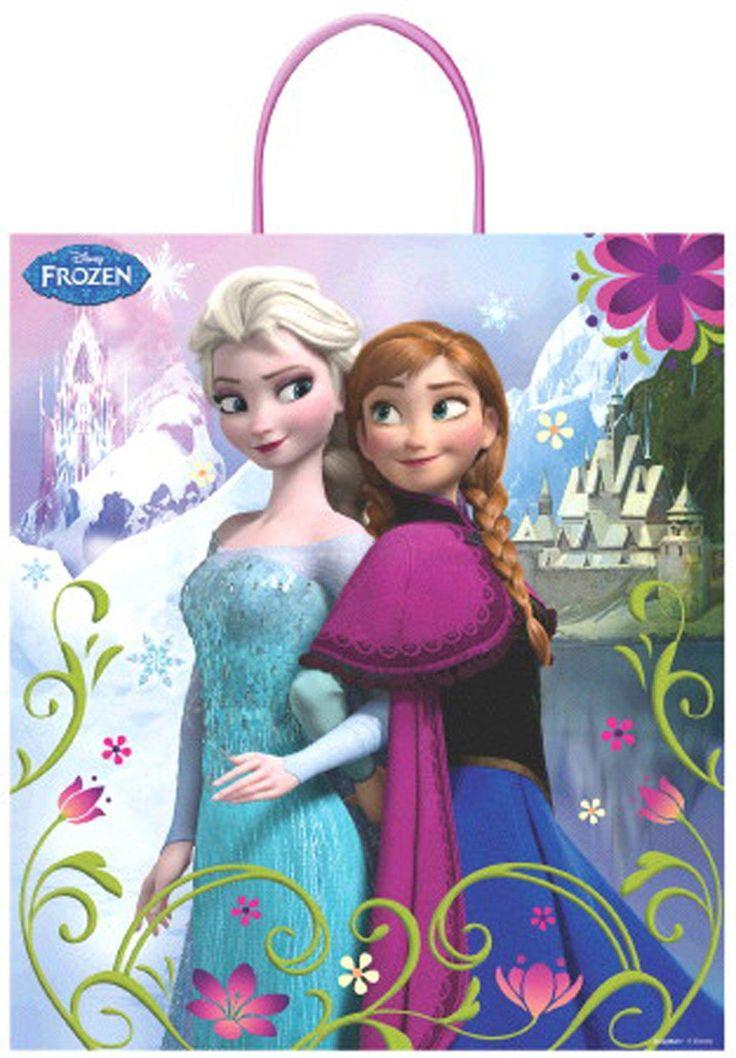 Disney Frozen Plastic Gift Bag from BirthdayExpress.com