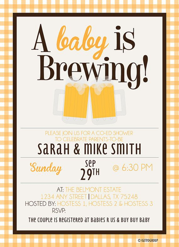 baby is brewing beer mugs baby shower invitation printable
