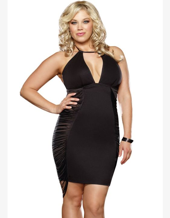 Dower Me Big Sizes Sexy 2XL Backless Mini Club Dress Hot Sale Fashion Women Black Club Mini Dress Plus Size XXL W846067 #Affiliate