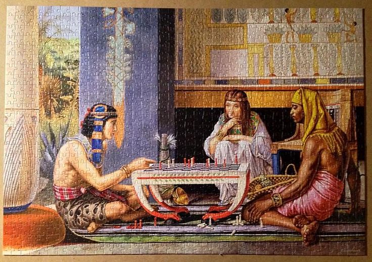 <<Egyptian Chess players>> puzzle, 1000 pieces Castorland