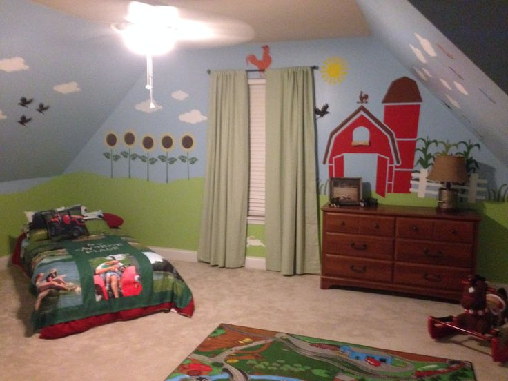 Farm Theme Boys Bedroom
