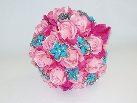 Turquoise Fuchsia Wedding: 51 Best Images About Quincenera On Pinterest