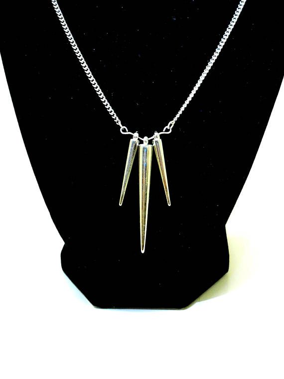 Acrylic Pendulum Necklace and Earring Sets in Gold and Silver