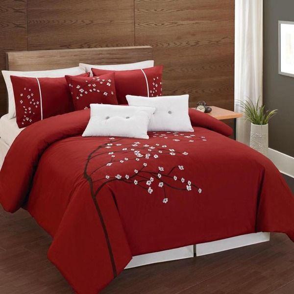 Lauren Taylor Rosso 6 Piece Comforter Set - Overstock Shopping - Great Deals on Comforter Sets
