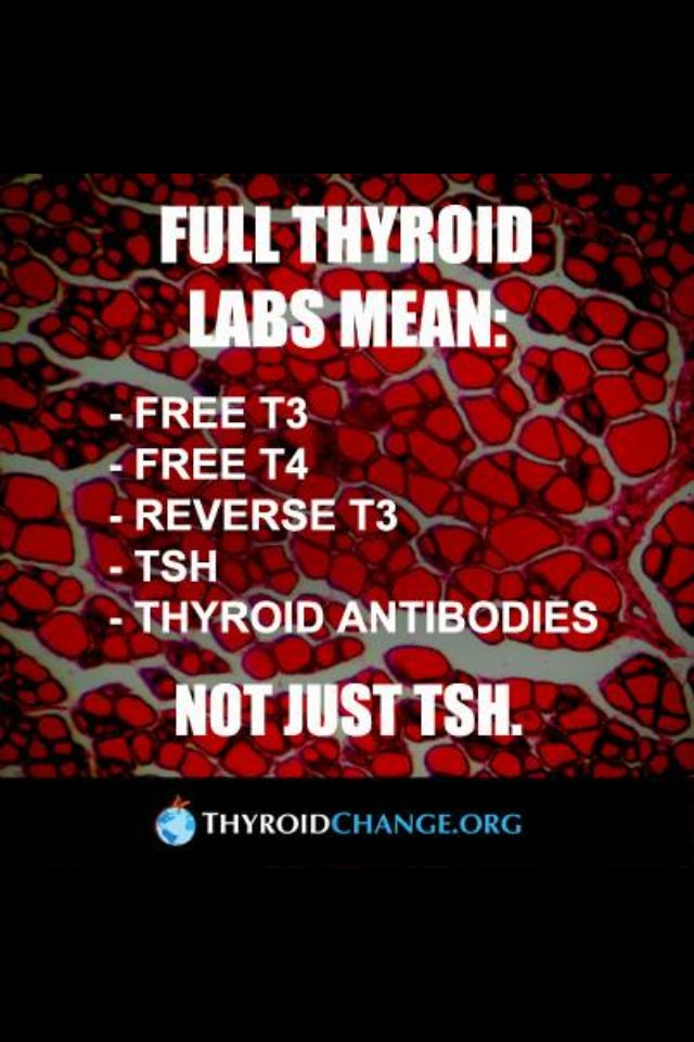 Amen!! SO important that you know ALL the numbers PLUS thyroid antibodies to assess thyroid function!