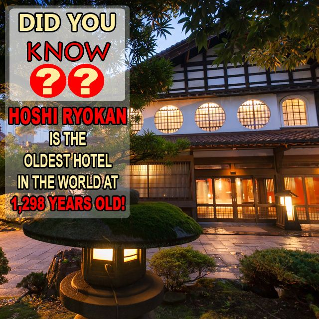 #HōshiRyokan was founded in 718. Located in #Japan featured in #GuinnessWorldRecords @easytobook