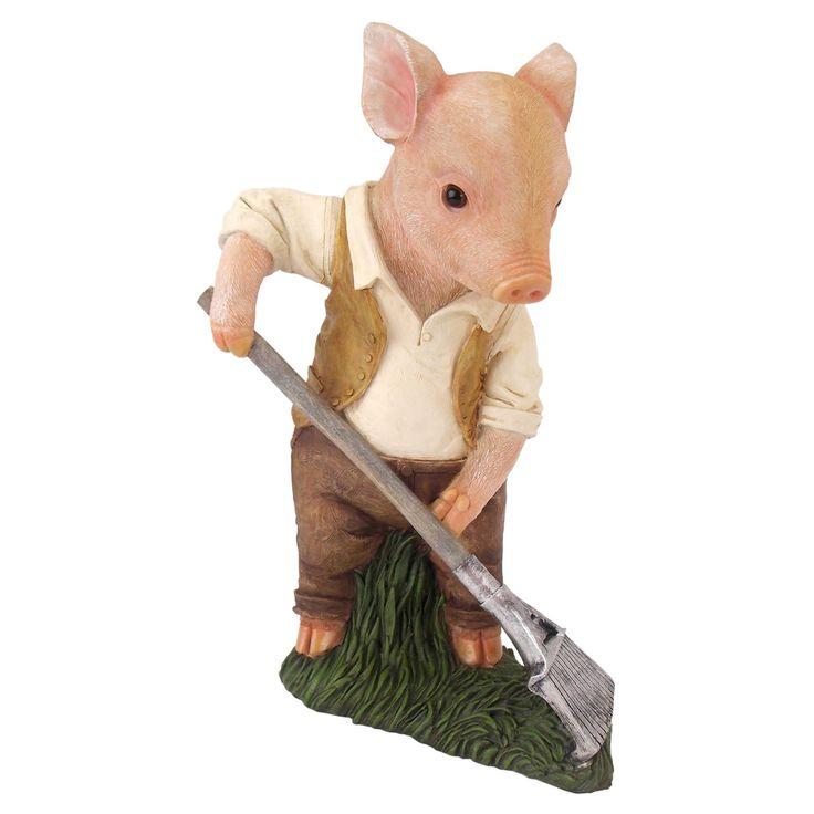 Design Toscano Papa Pig Gardener Statue - QM2724600