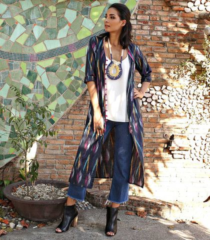 Bhopal Ikat Printed Cotton Tunic