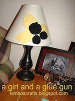 HOT GLUE - A girl and a glue gun - decorate lampshade
