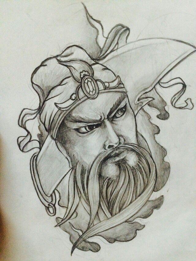 Guan yu tattoo design1 Chainese tattoo by SkinArt906
