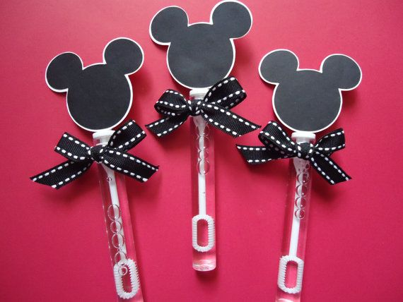 Mickey Mouse party favors, Mickey Mouse bubble wands set of 8