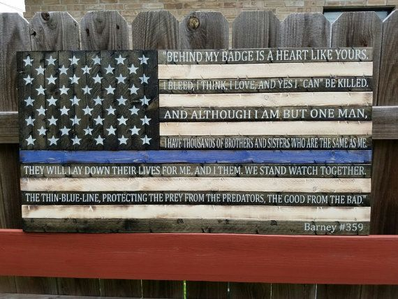 Thin Blue Line flag w/End of Watch quote                                                                                                                                                      More