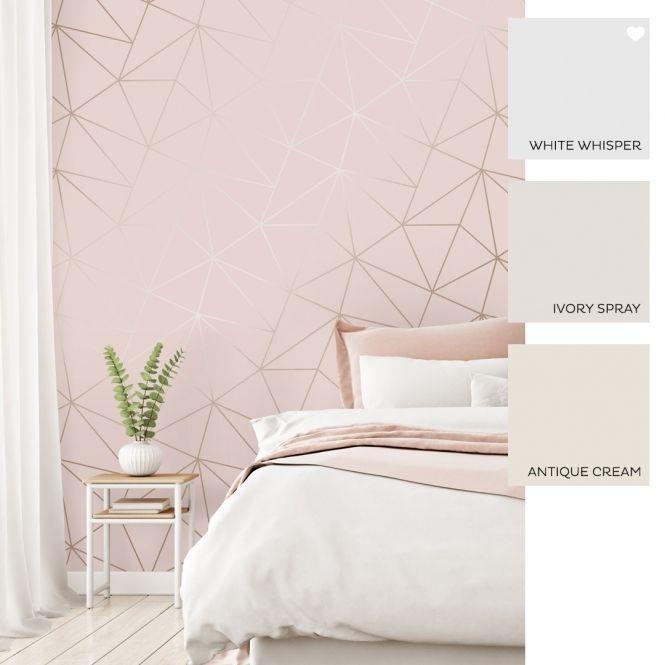 I Love Wallpaper Zara Shimmer Metallic Wallpaper Soft Pink ...