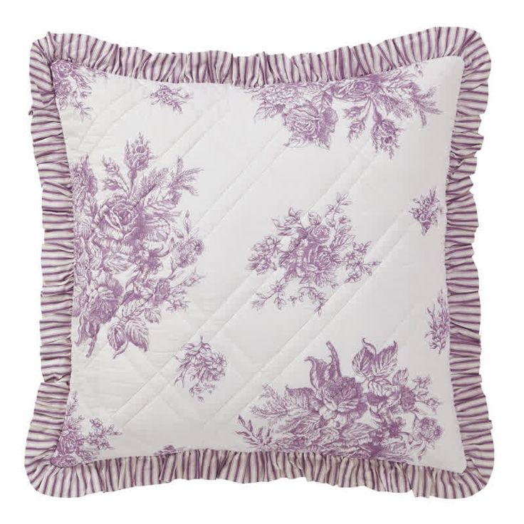 Josephine Orchid Quilted Euro Pillow Sham 26 X 26 From