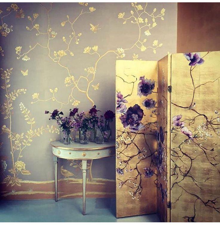 die besten 25 de gournay wallpaper ideen auf pinterest chinoiserie tapete antike wallpaper. Black Bedroom Furniture Sets. Home Design Ideas