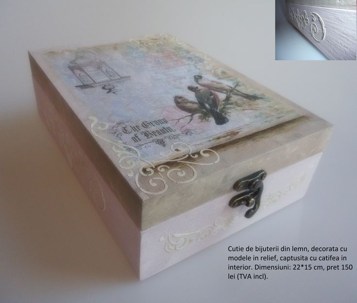Jewelry box, decoupage and romantic decorations. https://www.facebook.com/DragonulPufos/photos