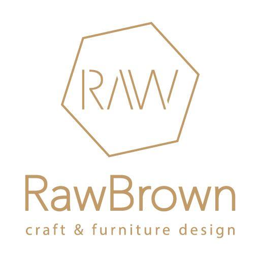 rawbrown logo, identity, branding