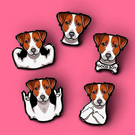 Jack Russell Terrier Dog Pin Pet Dog Brooch Custom Pet Portrait